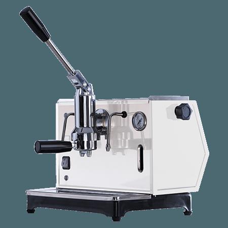 Foto macchina per caffè a leva Lusso bianco