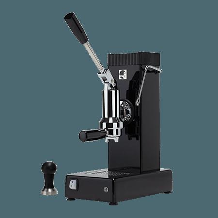 Foto macchina caffè espresso a leva export professionale colore nero