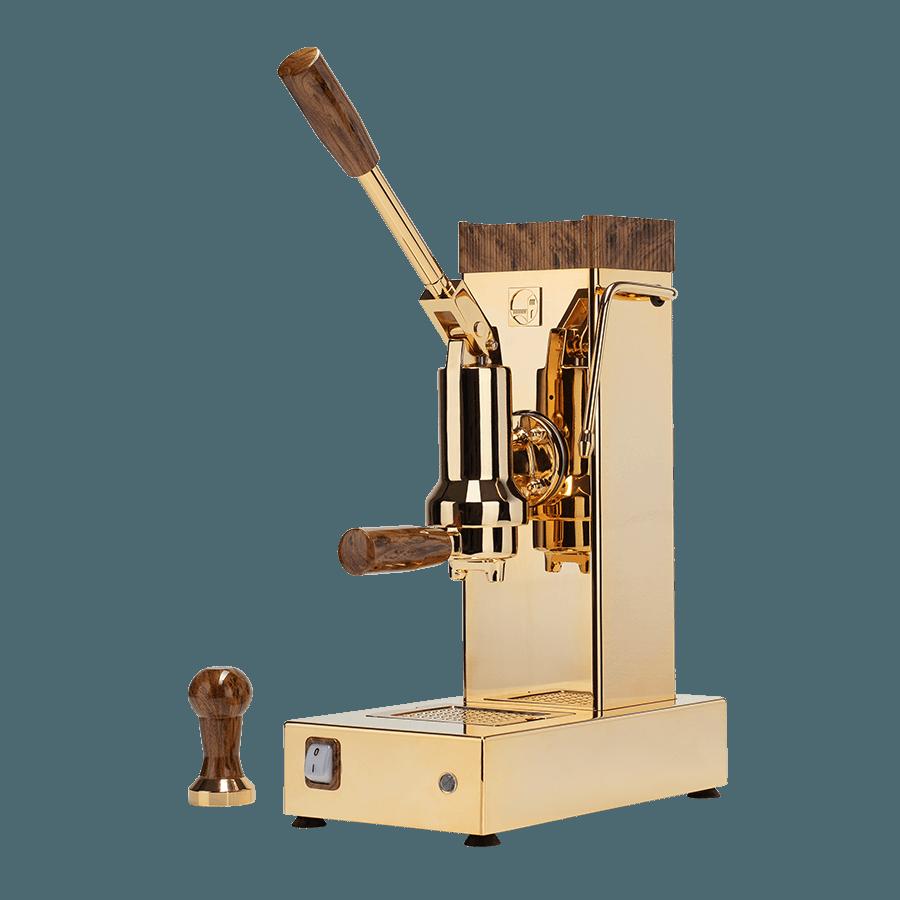 macchina caffè oro