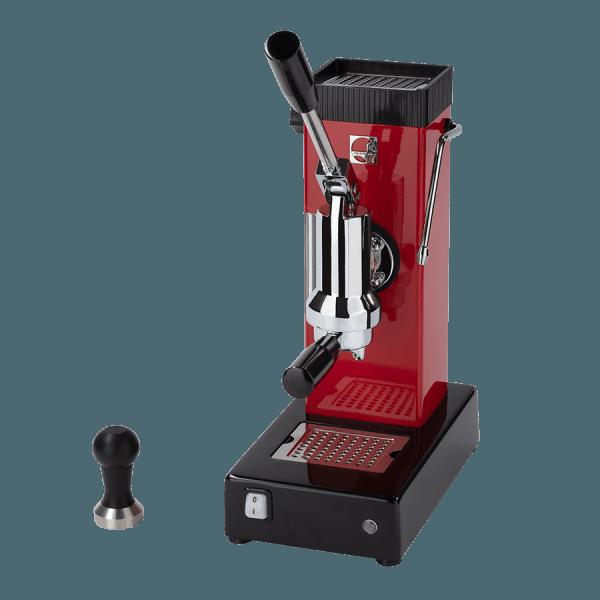 macchina per caffè a leva export rossa