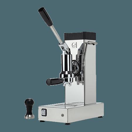 foto macchina caffè a leva acciaio inox