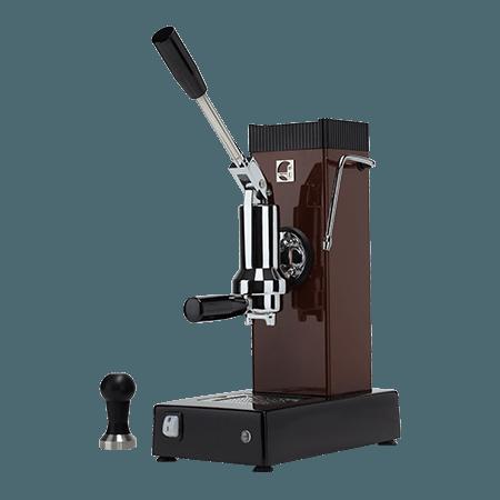 Foto macchina caffè espresso a leva export professionale color tabacco