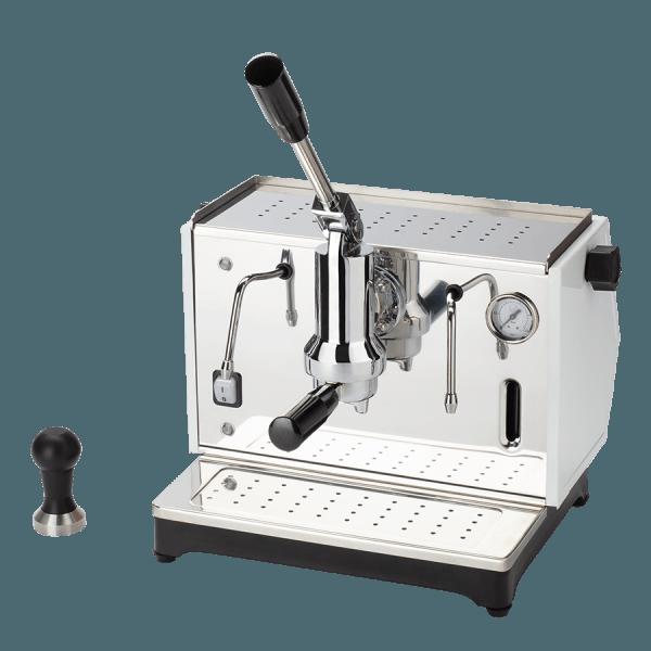macchina per caffè a leva lusso 1 gruppo bianca
