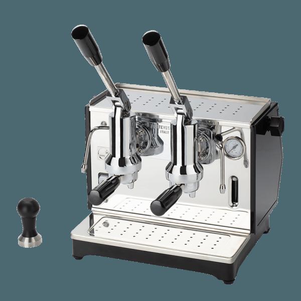 macchina per caffè a leva lusso 2 gruppi nera