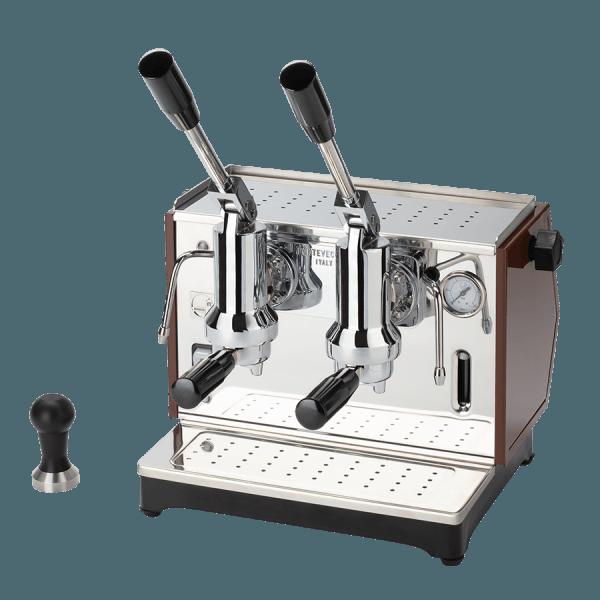 macchina per caffè a leva lusso 2 gruppi tabacco