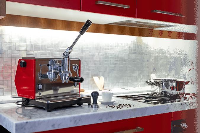 macchina per caffè a leva design