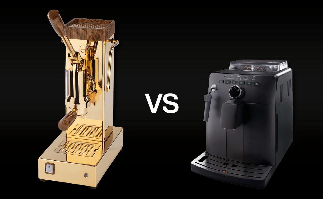 macchina caffè manuale vs macchina caffè automatica