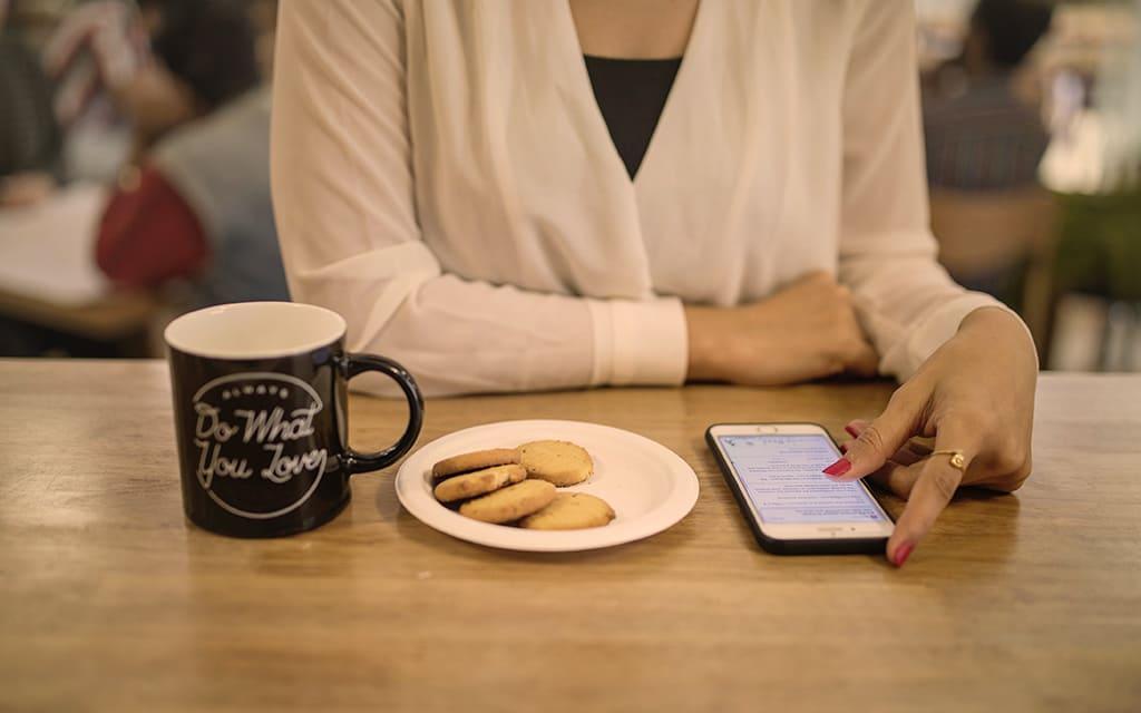bere caffè espresso in relax