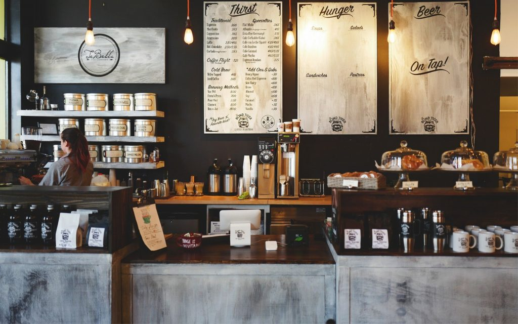 angolo caffè in un bar foto