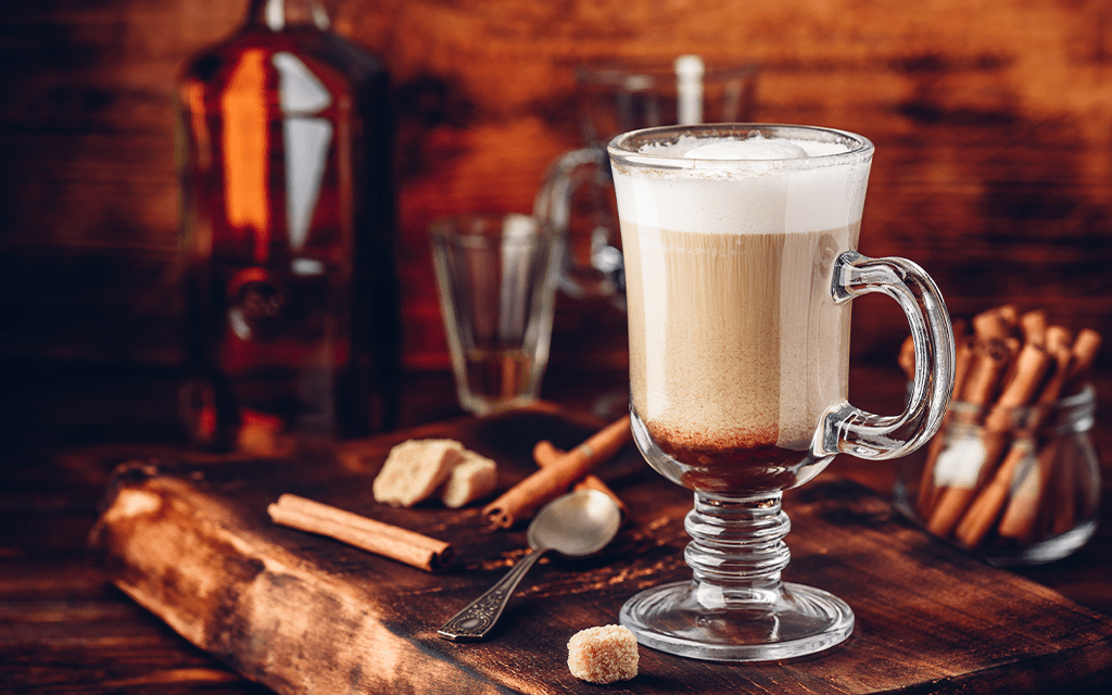 Cocktail al caffè alcolico: Irish coffee