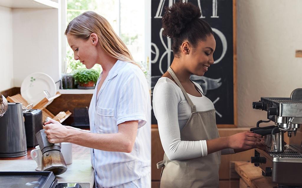 macchina caffè professionale vs moka