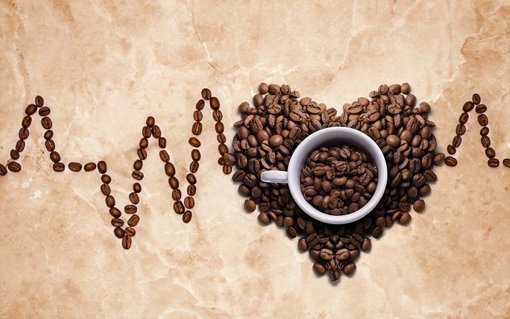 coffee in the heart