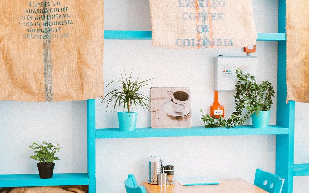 colorful coffee home bar